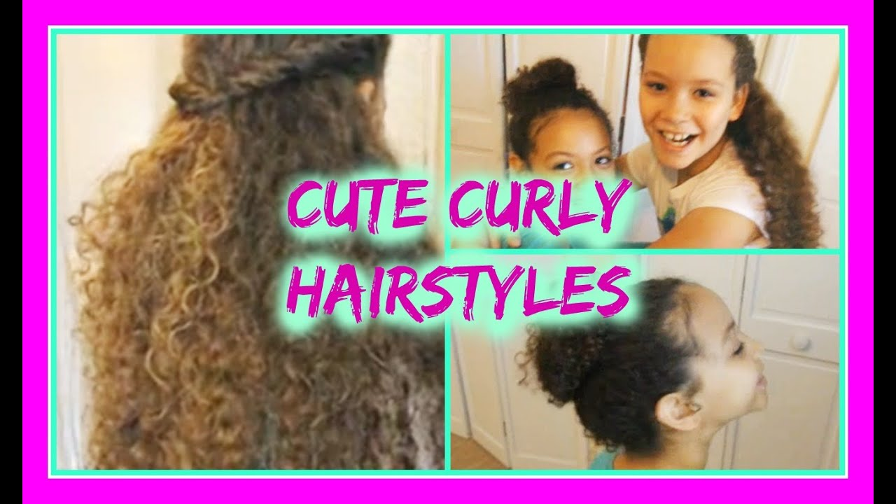 cute hairstyles for curly hair - youtube