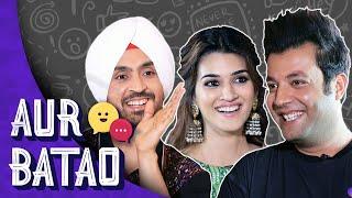 ARJUN PATIALA INTERVIEW    Diljit, Kriti, Varun Sharma reveal who falls in & out of love quickest