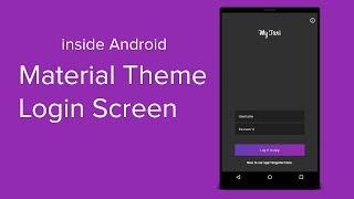 Material Login Screen in Android Studio