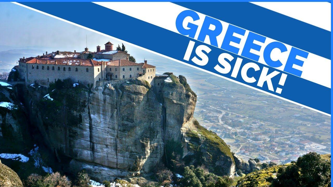 EPIC GREECE TRIP   Travel Meteora   HUGE TOWERING MOUNTAINS