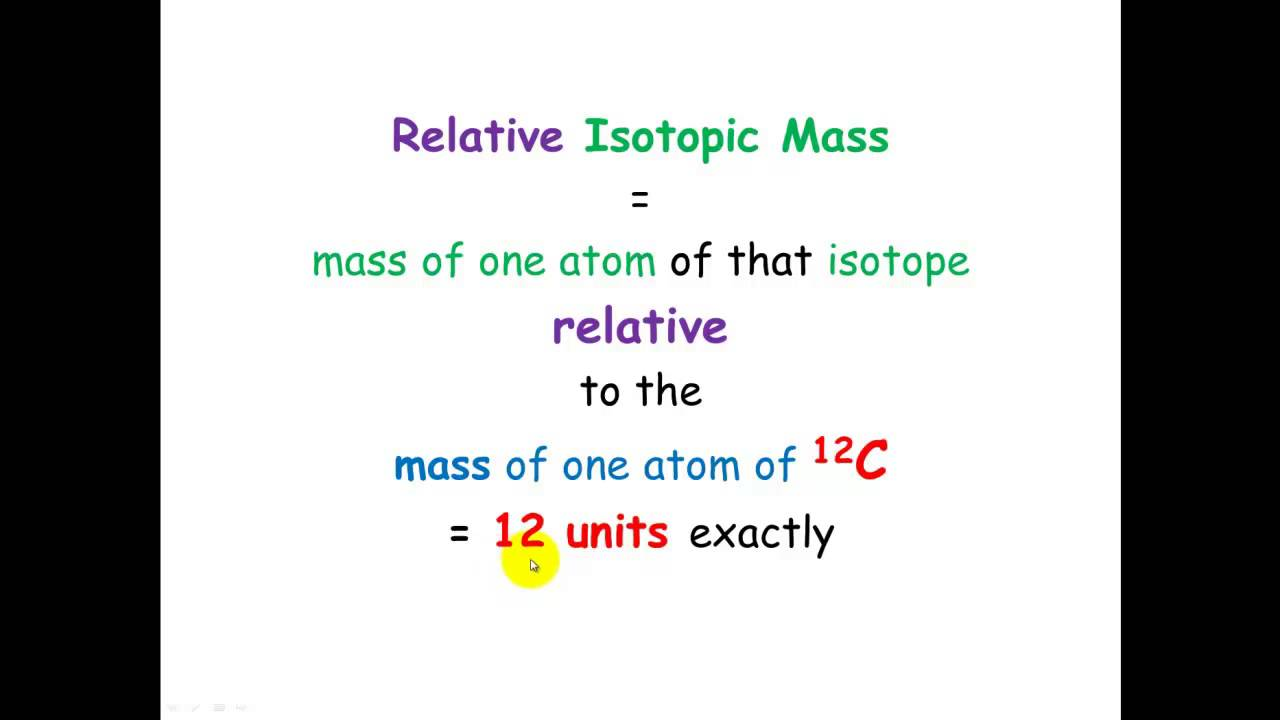 Relative Isotopic Mass