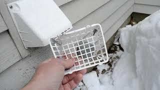 Clean Clothes Dryer Exhaust Duct Screen