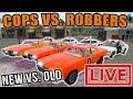 OLD SCHOOL VS. SCHOOL | DODGE CARS | COPS VS. ROBBERS | FARMING SIMULATOR 2017