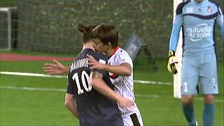 OGC Nice Defender Renato Civelli Kisses PSG's Zlatan Ibrahimovic On The Neck & Gets Pushed Back