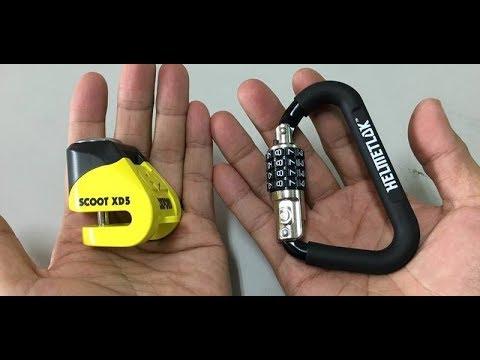 [ 英澳雙鎖 ]  英國 mini 碟煞鎖  +  澳洲 HELMETLOK 安全帽鎖(含 T-Bar 的特殊包裝)