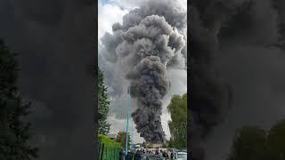 Incendie zone industrielle à Chelles.