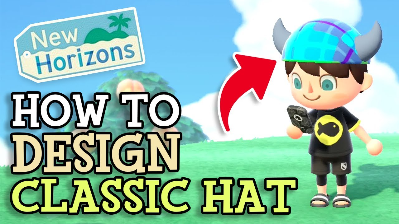 Animal Crossing New Horizons: How To DESIGN CLASSIC HORNED HAT Tutorial (Pattern & QR Code Guide)