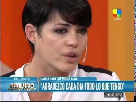 La emoción de Pamela David en el programa de Mauro Viale