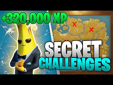 5 SECRET CHALLENGES Just Added To FORTNITE (EZ XP)