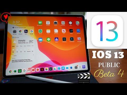 iPad Pro 2018 iOS 13 public beta 4. New features and improvements .