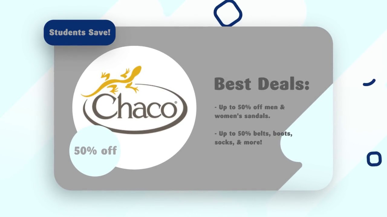 Chaco Student Discount/Coupons