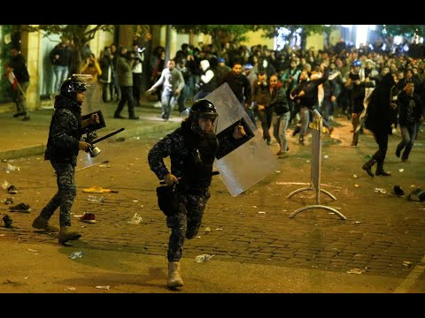 Clashes Rock Beirut Protest For Second Night
