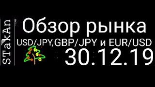 обзор рынка форекс сегодня 30.12.19. GBP/JPY, USD/JPY, EUR/USD