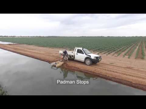 Padman Stops - Automated 'Through the Bank' Irrigation footage using Drone Quadcopter