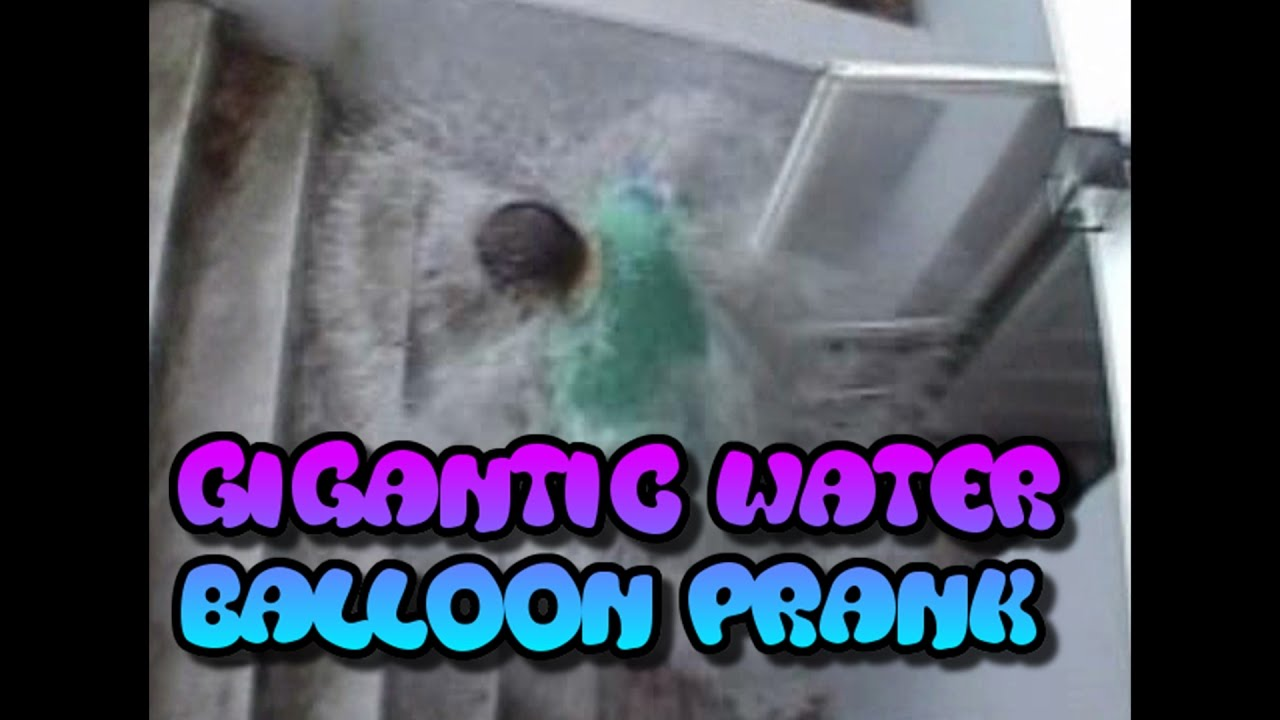 Gigantic Water Balloon Prank (Gone Wrong!)