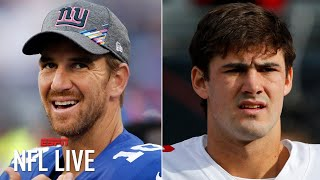 Eli Manning will likely start for the Giants vs. the Eagles while Daniel Jones is injured | NFL Live