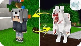 GECELERİ KURT ADAM OLUYORUM! - Minecraft