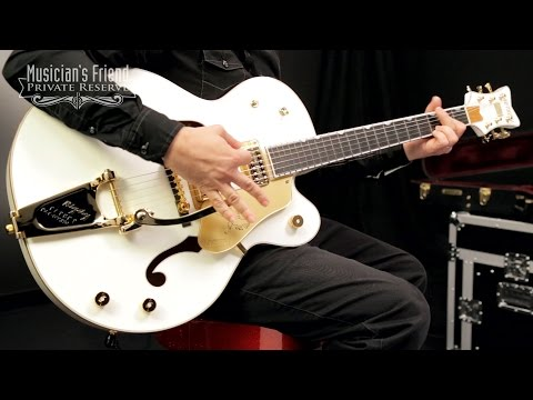 Gretsch Guitars G6136T White Falcon with Bigsby Electric Guitar, White