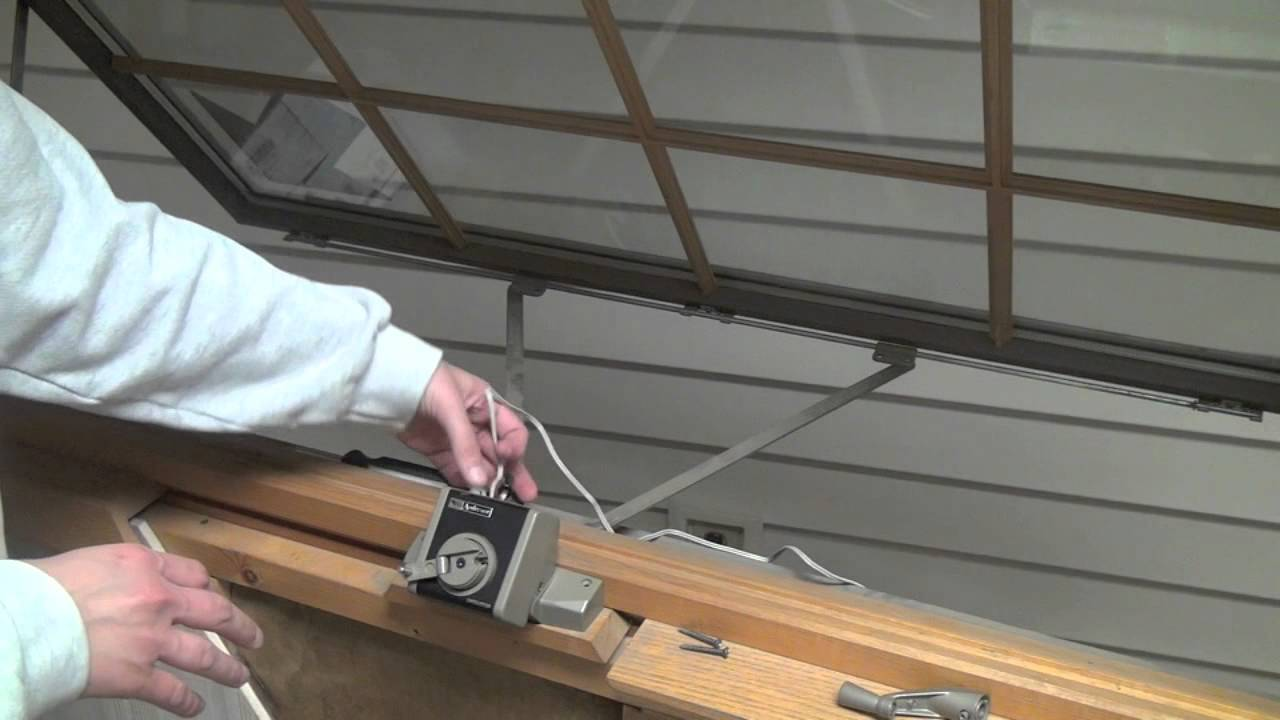 how to install andersen power operator for awning window youtube