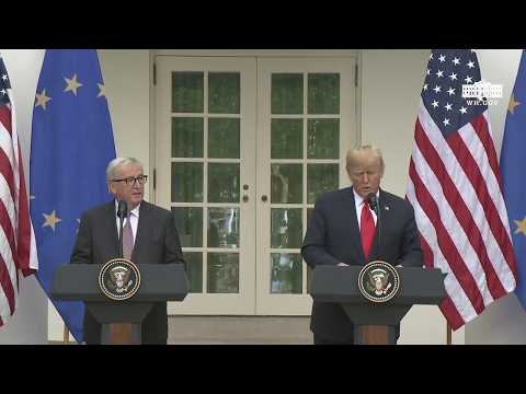 President Trump and the President of the European Commission Deliver Joint Statements