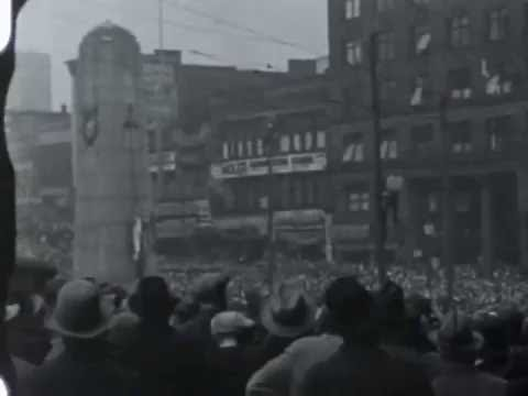 Remberance Day Ceremony Victory Square Vancouver ca late 1930s