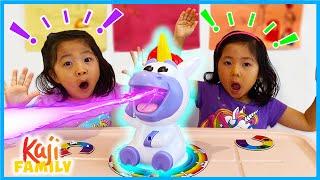 Emma and Kate play Unicorn Rainbow Ralph Board Game!