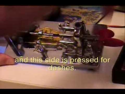 Morse Code Demonstration (Landline Telegraphy) (Railroad Code)