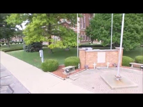 4K UHD/ Movie of downtown Martinsville, Indiana 3 min  24 sec