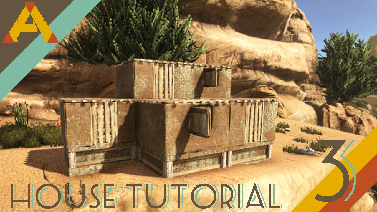 Ark Simple Desert Adobe Starter House Tutorial 3