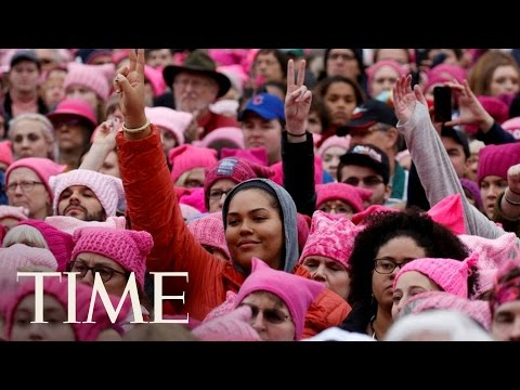Experience The International Women's Day March In 4K VR | 360 Video | TIME