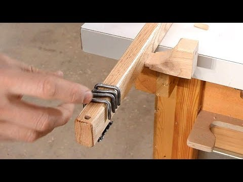 Making curtain rods with rings from nails