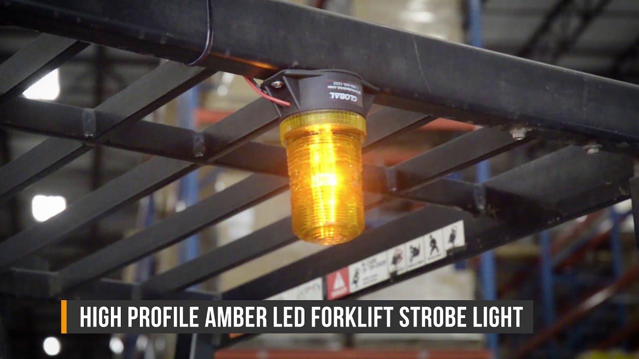 Led Fork Lift Lights : Amber led forklift safety strobe light youtube