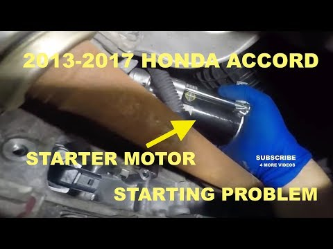 2014 Honda Accord How to change the Starter Motor