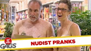 Repeat youtube video Nudist Pranks - Best of Just For Laughs Gags