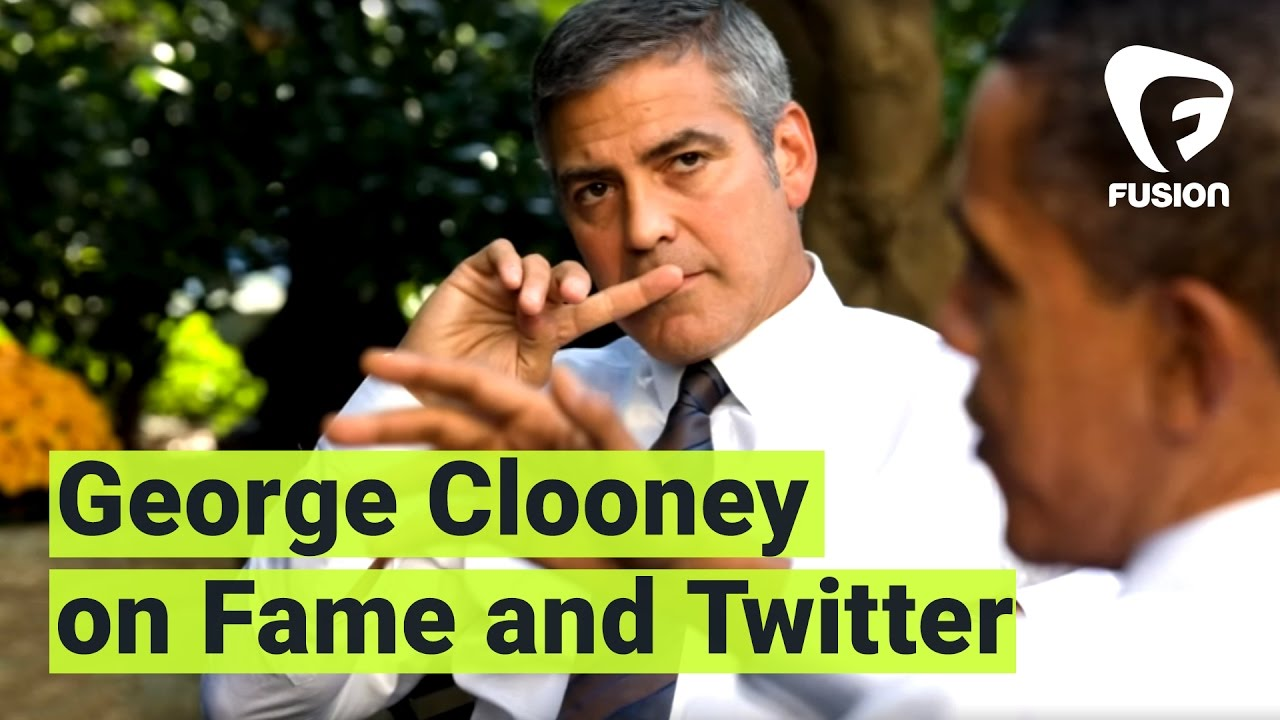 George Clooney doesn't understand why famous people are on Twitter