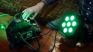 led par  7 x 10w  светодиодный прожектор / светомузыка / стробоскоп