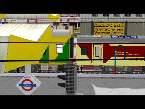 Visakhapatnam - Tirupati AC Double Decker Express Arriving Vijayawada || IR In MSTS Open Rail