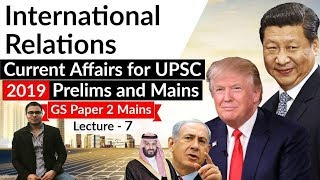 IR Current Affairs 2019 Lecture 7 Explained in ENGLISH UPSC Prelims 2019 & GS Mains Paper 2