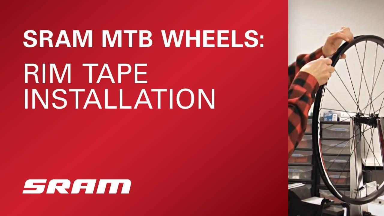 6ed8f8b0efa SRAM MTB Wheels Rim Tape Installation - YouTube
