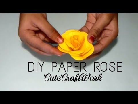 DIY Paper Rose II How to make paper Rose II CCW