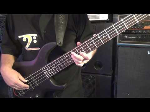 """""""Brush Stroke"""" bass line - USA MTD Saratoga 5  - Andy Irvine"""