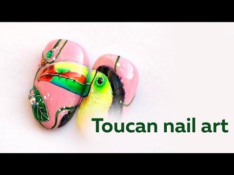 Toucan nail art tutorial thumbnail