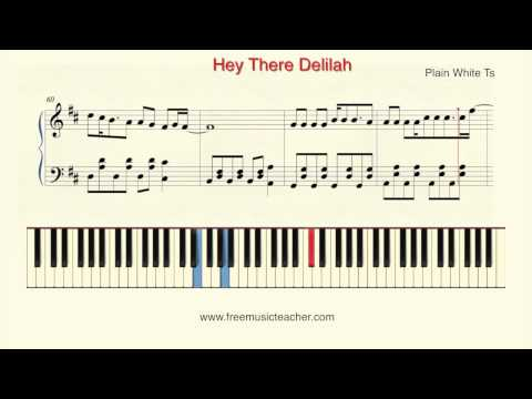 96 Mb Hey There Delilah Sheet Music Piano Free Download Mp3
