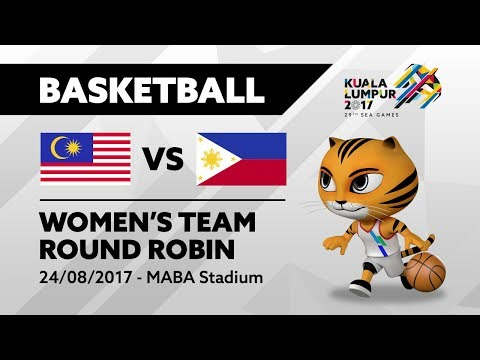 KL2017 29th SEA Games | Women's Basketball - MAS 🇲🇾 vs PHI 🇵🇭 | 24/08/2017