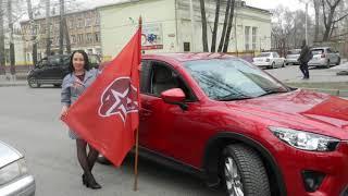Абакан автоканал. Принял участие в пробеге посвящённый 73 - ию Победы