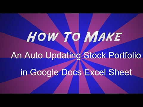 How To Make Auto Updating Stocks Portfolio in Google Docs Excel Sheet [Hindi]