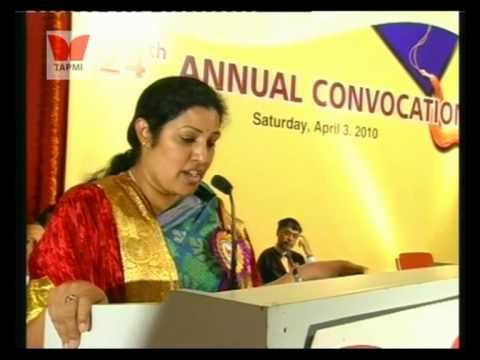 Convocation 2010 - Ms. Purandeswari Part #2/2