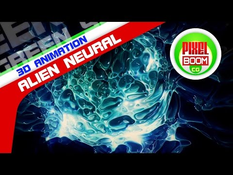 Alien Neural Connection Synapses Animated Background - PixelBoomCG