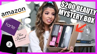 Download I BOUGHT $200 AMAZON BEAUTY MYSTERY BOXES Mp3 and Videos