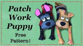 Easy Patchwork Puppy || FREE PATTERN || Full Tutorial with Lisa Pay